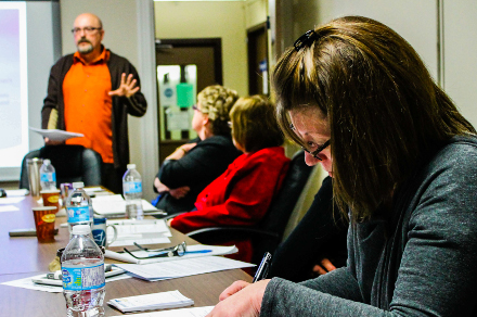Sean teaching a workshop | Photo by Dana Perry